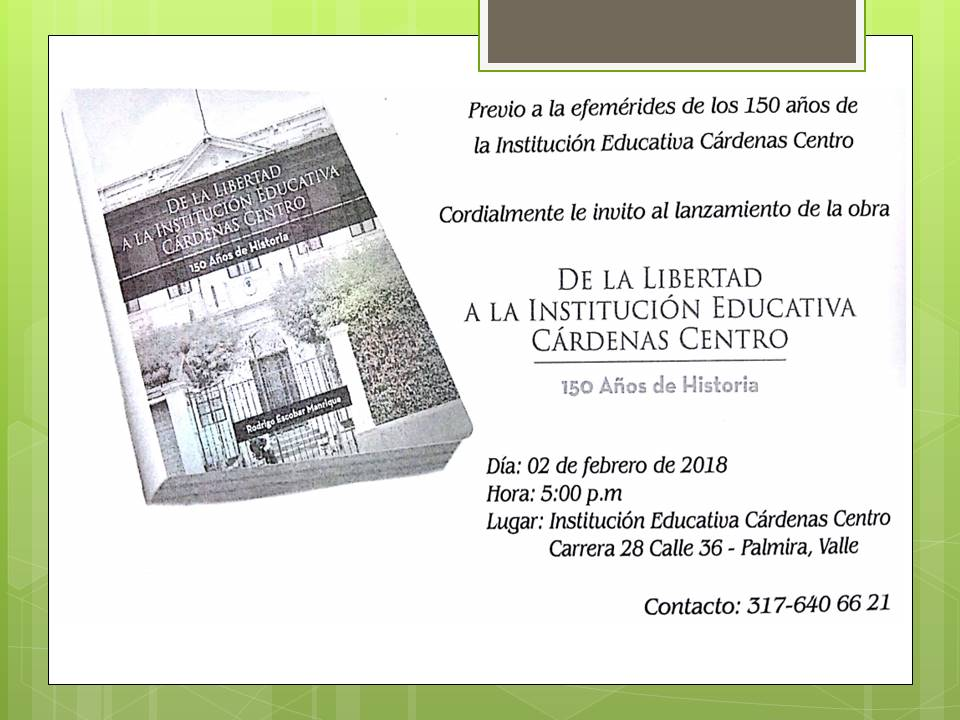 invitacion a lanzamiento de libro