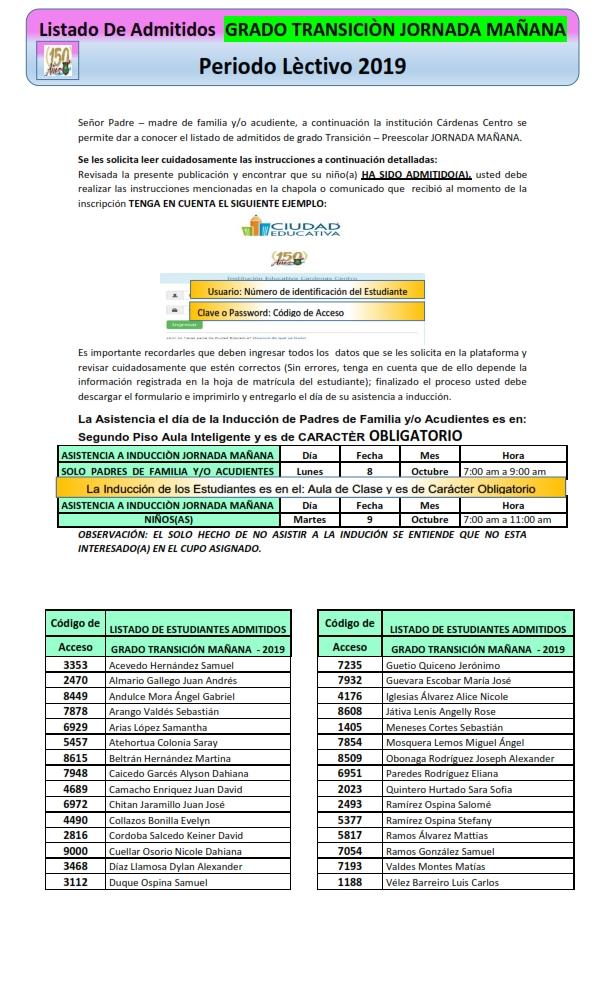 COMUNICADO DE ADMITIDOS 2019 TRANSICION MAÑANA_001
